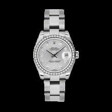 Rolex Datejust - Stainless Steel Silver Diamond Dial - 18K Diamond Bezel - Oyster Bracelet 31 MM 178384