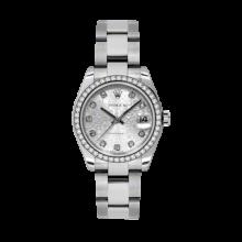 Rolex Datejust - Stainless Steel Silver Jubilee Diamond Dial - 18K Diamond Bezel - Oyster Bracelet 31 MM 178384