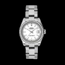 Rolex Datejust - Stainless Steel White Index Dial - 18K Diamond Bezel - Oyster Bracelet 31 MM 178384