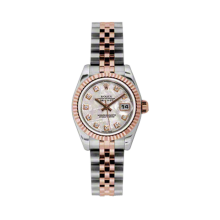 Rolex Ladies 18K Two Tone Rose Gold Datejust - Meteorite Diamond Dial - 18K Fluted Bezel - Jubilee Bracelet 26 MM 179171