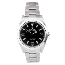 Rolex Mens Explorer - Stainless Steel Black Dial 214270 39MM