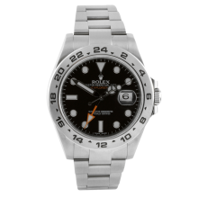 Rolex Mens Explorer II - Stainless Steel Black Dial 216570 42MM Display Model