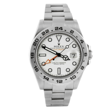 Rolex Mens Explorer II - Stainless Steel White Dial 216570 42MM Display Model
