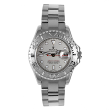 Rolex Ladies Yacht-Master - Stainless Steel And Platinum Rolesium Dial 69622 29MM Model