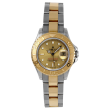 Rolex Ladies Two Tone Yacht-Master - SS/18K With A Champagne Dial 29MM Model 69623