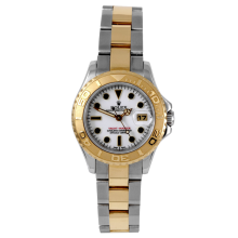 Rolex Ladies Two Tone Yacht-Master - SS/18K With A White Dial 29MM Model 69623