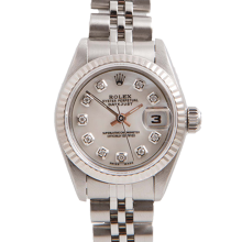 Rolex Ladies Datejust - Stainless Steel Mother Of Pearl Diamond Dial & Fluted Bezel On A Jubilee Band 6917 Model